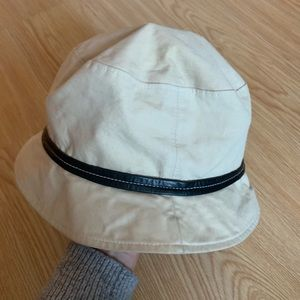 Coach Accessories - Coach Cotton & Leather Bucket Hat